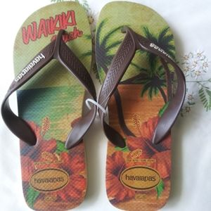 Havanians Waikiki Beach flip flops size 9/10
